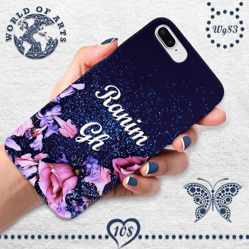 Customized name glitter cover