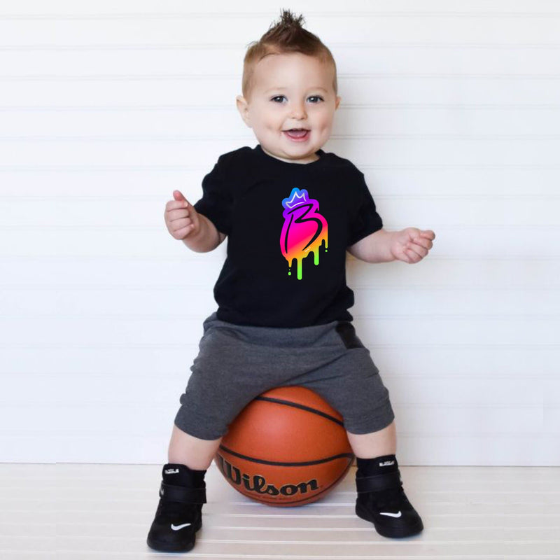 Colored B Boys T-shirt for kids