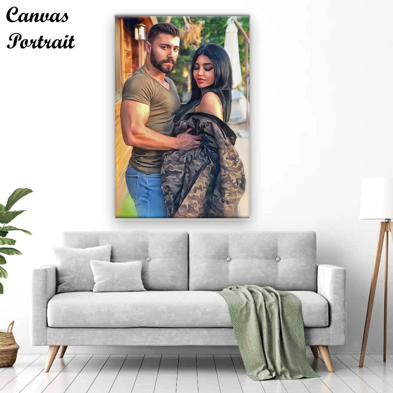 Photo effect canvas portrait
