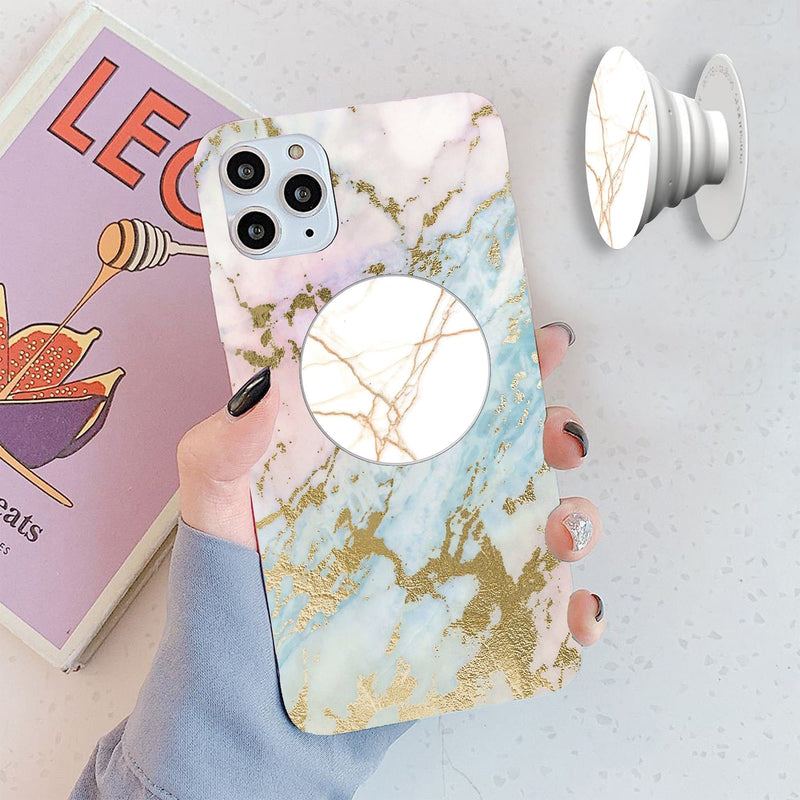 Marble Cover with Popsocket