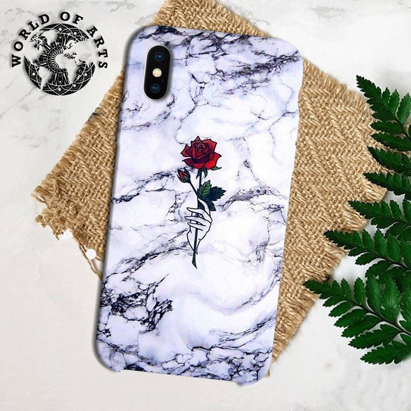 Rose marble cover