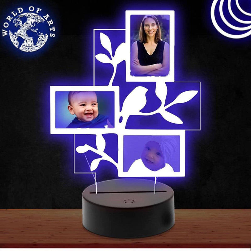 Family frame 3D led lamp