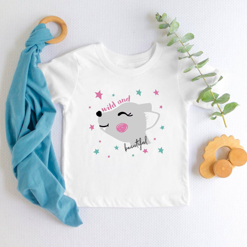 Wild and Beautiful Girls t-shirt for kids