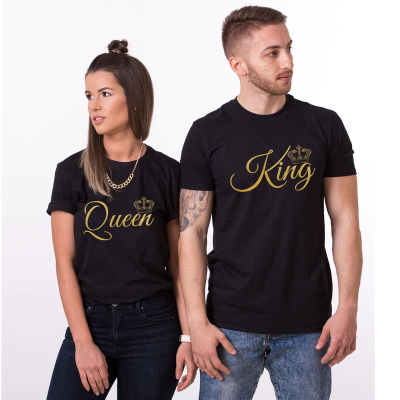 Couples matching Queen and King T-Shirt