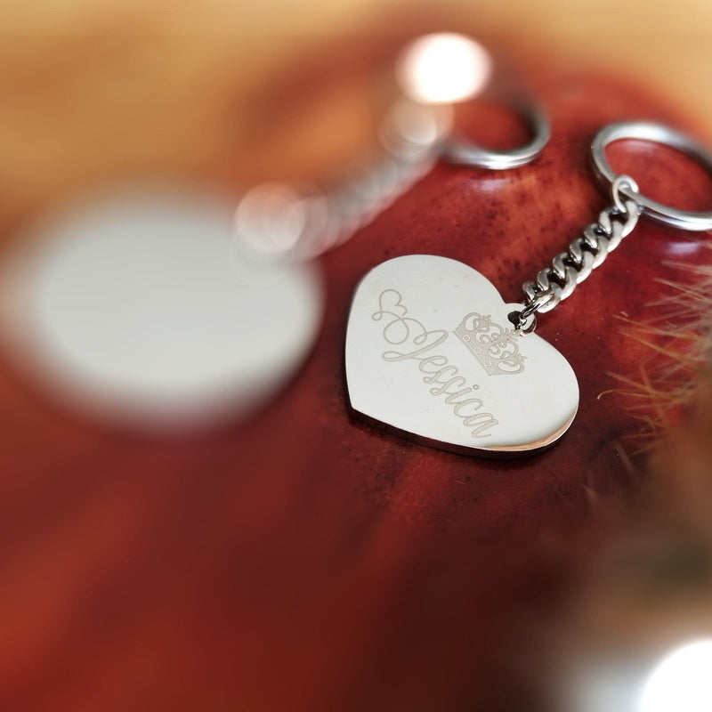 Stainless Steel Heart Key chain