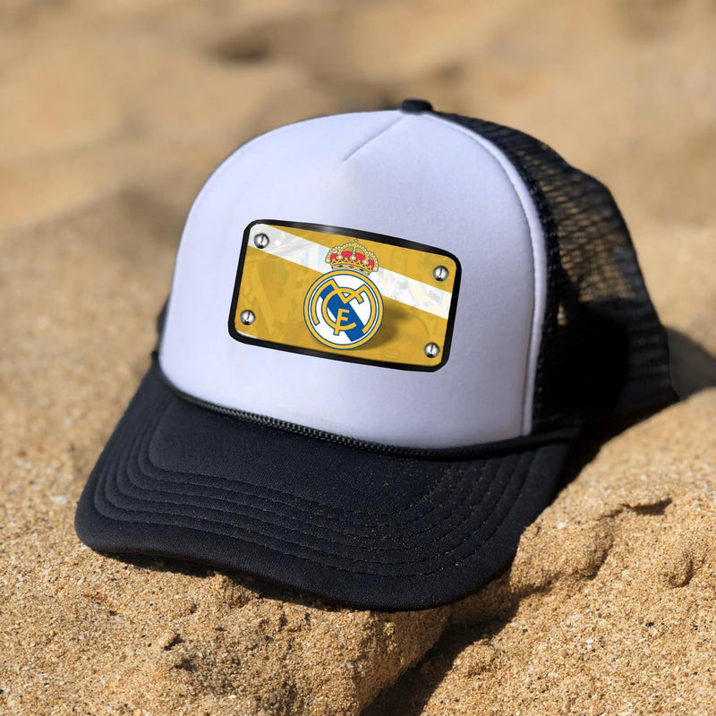 Real Madrid black white cap