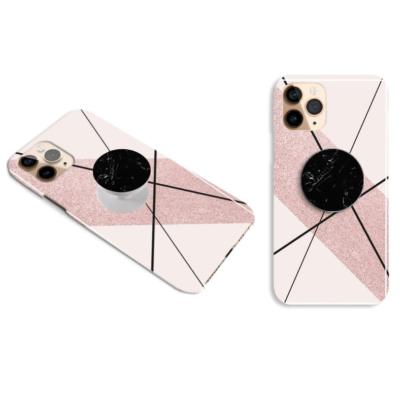 Pink and Black Cover with Popsocket