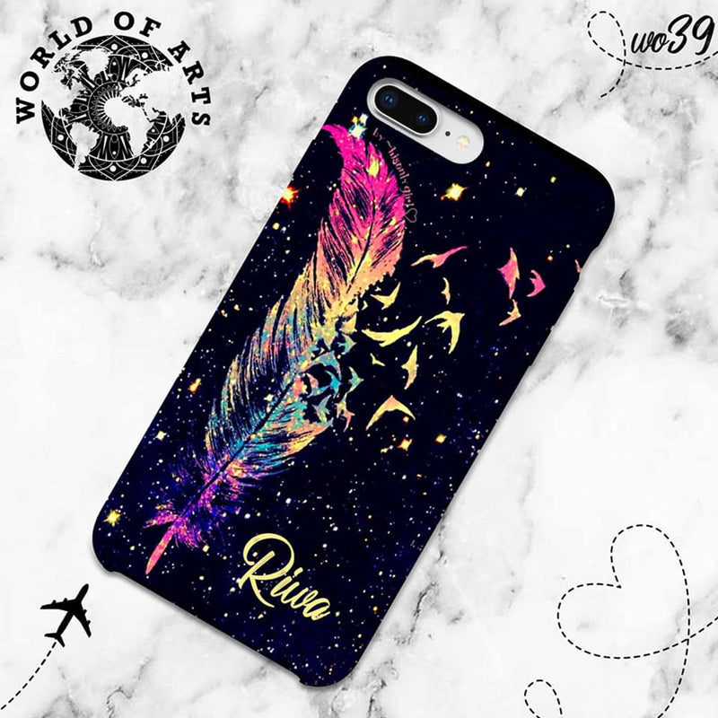 Gradient bird feather cover