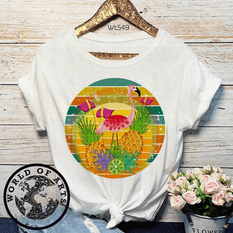 Flamingo Background T-Shirt
