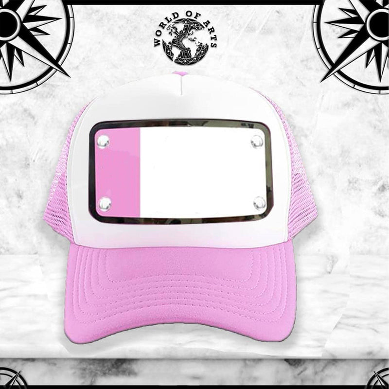 Customized White and Pink Cap