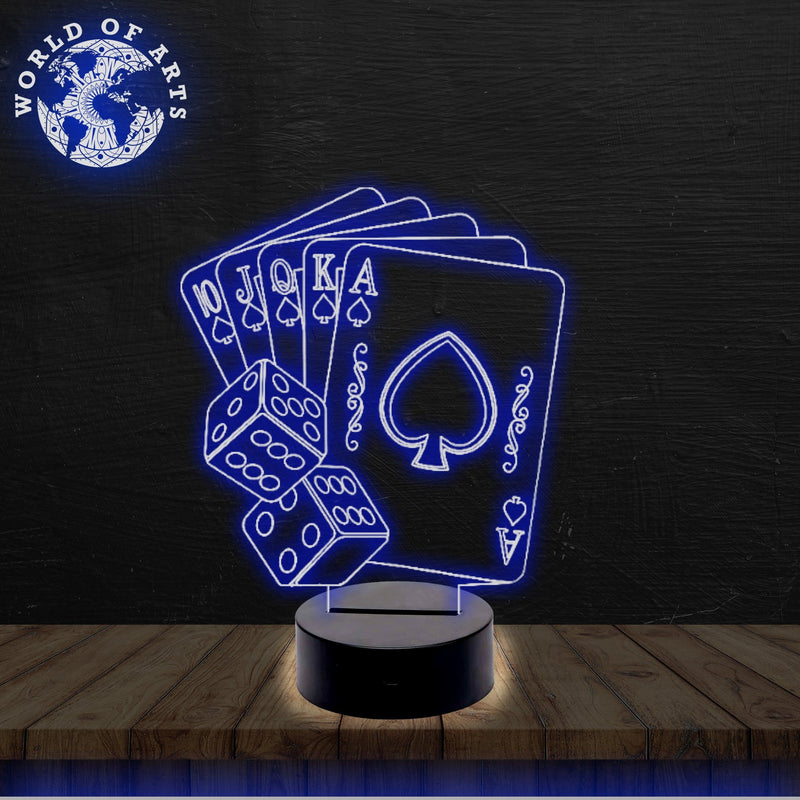 Cards 3D led lamp