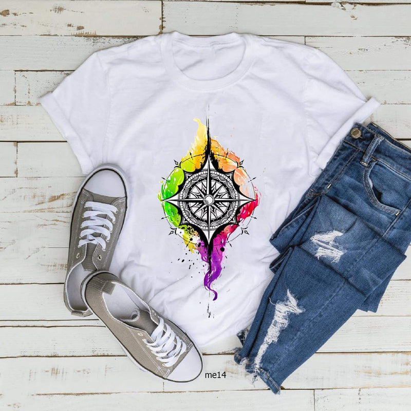 Colorful Compass T-shirt