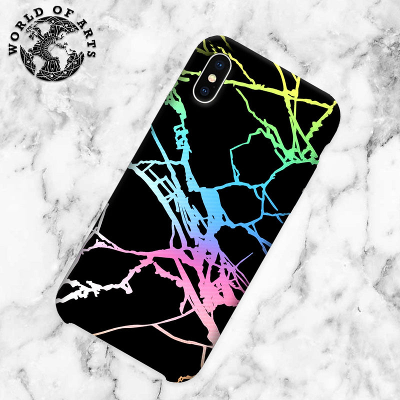 Black and colorful marble cover