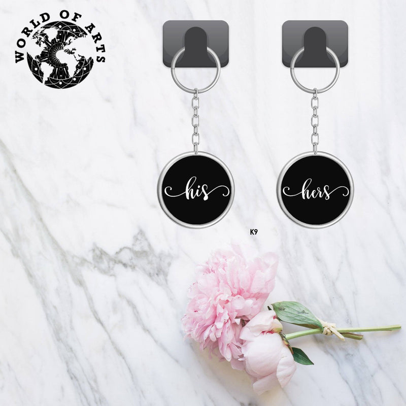 Couples His Hers Key chain