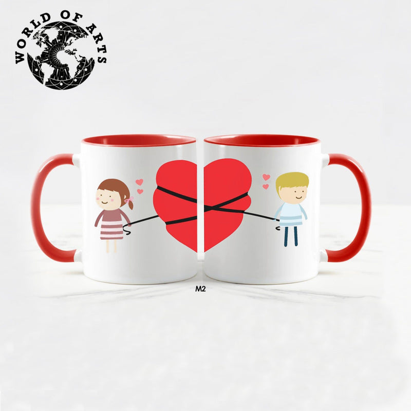 Couple half heart Mug