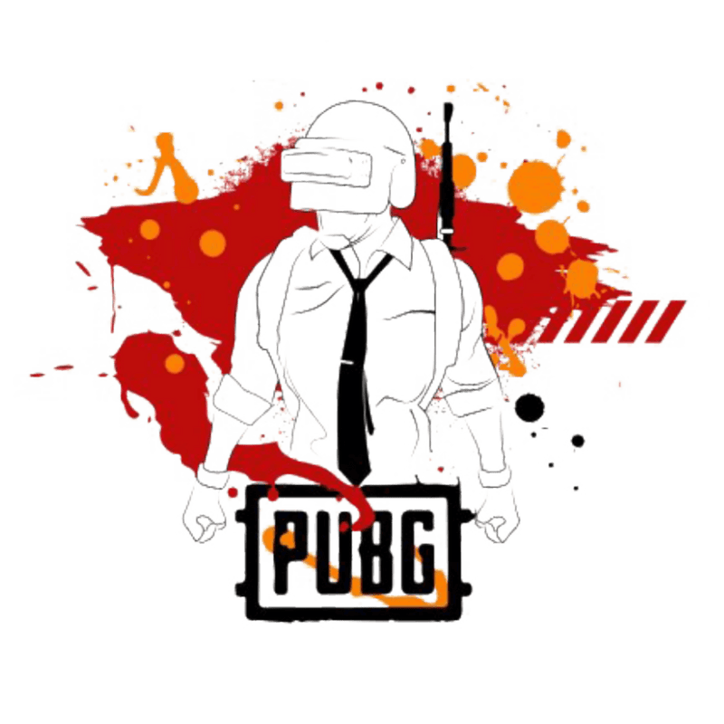 Red art Pubg T-Shirt