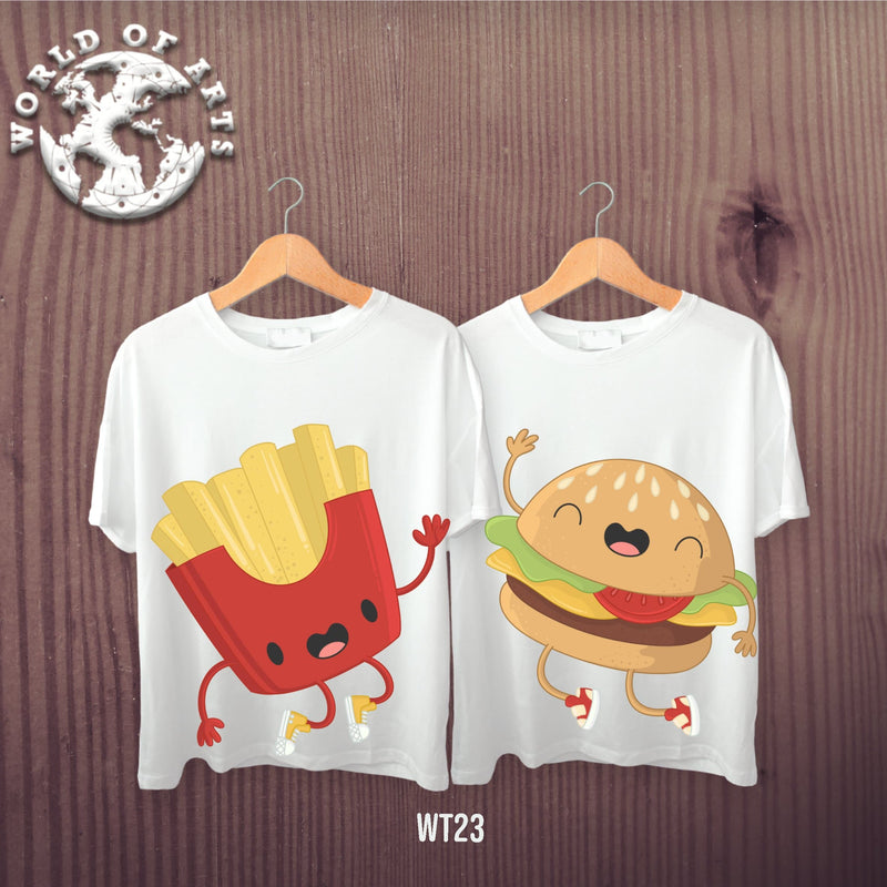 Couples Fries and Burger Friends T-Shirt