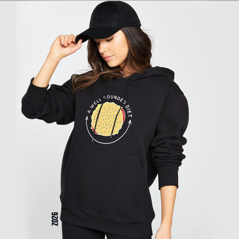 Rounded diet hoodie