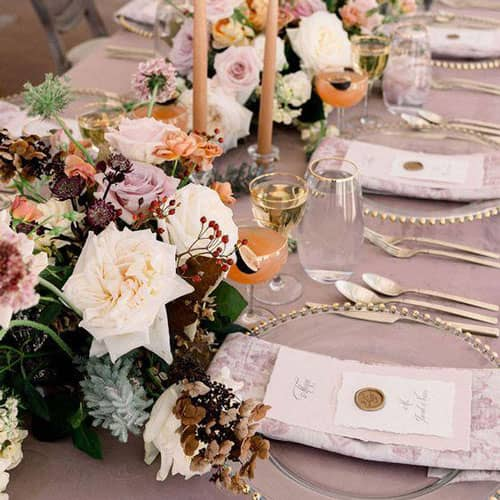 Inspiration for a Mauve Fall Wedding