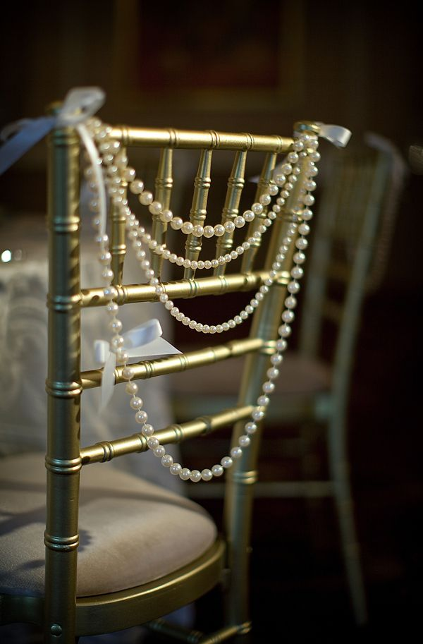 Pearl Wedding Decor: Pearl Chairs