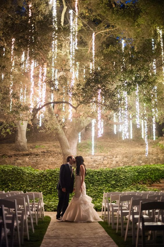 Twinkle Lights in Trees | Decorating a Wedding With Twinkle Lights | My Wedding Favors