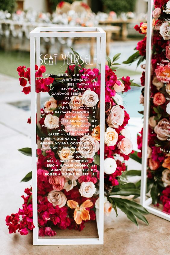 Ultra Floral Wedding: Floral Seating Chart