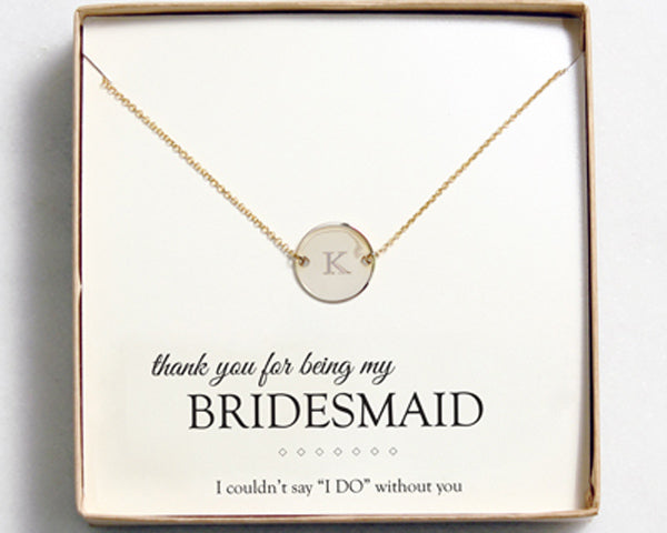Personalized Necklace | 8 Personalized Bridesmaid Gifts | My Wedding Favors