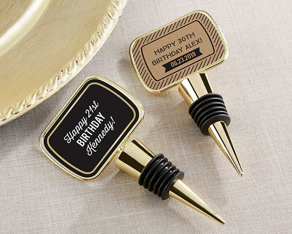 Personalized Bottle Stoppers   Boozy Birthday Party Favors   My Wedding Favors