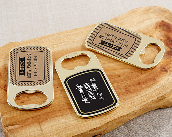 Personalized Bottle Openers | Boozy Birthday Party Favors | My Wedding Favors