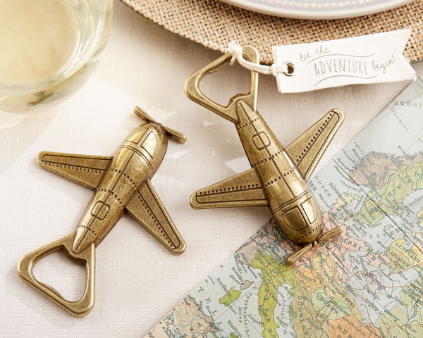 Airplane Bottle Openers | 8 Favors for a Travel Themed Wedding  | My Wedding Favors