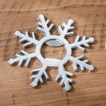 Bridesmaid Gifts for a Holiday Wedding: Snowflake Bottle Opener