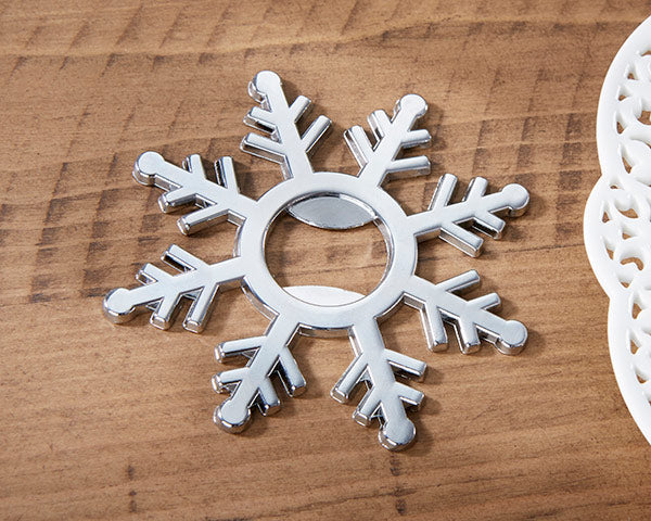 Snowflake Bottle Opener | 7 Bridesmaids Gifts for a Holiday Wedding | My Wedding Favors