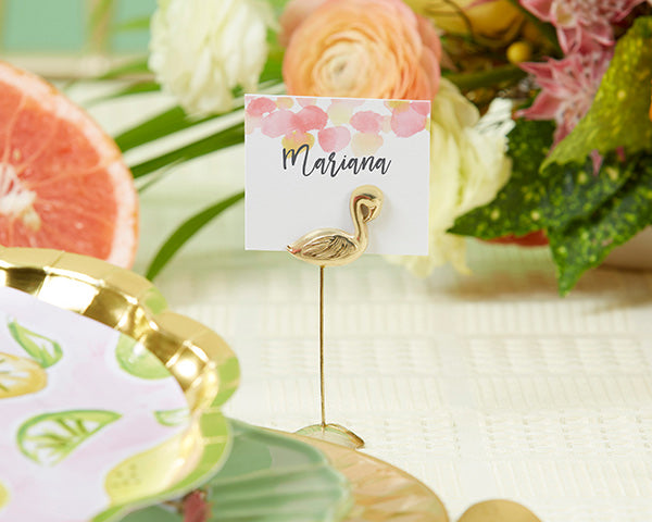 Flamingo Place Card Holder | 8 Spring Wedding Favors Your Guests Will Love | My Wedding Favors