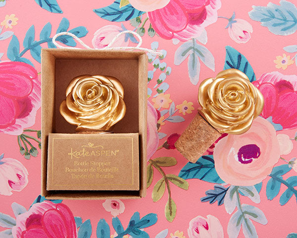 Gold Rose Bottle Stopper | 8 Lovely Spring Wedding Favors & Décor | My Wedding Favors