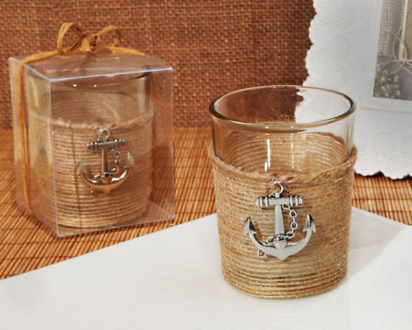 Rustic Wedding Favors: Candle Holder