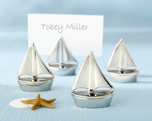 Sailboat Place Card Holders | How to Decorate for an Elegant Beach Wedding | My Wedding Favors