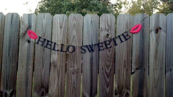 Doctor Who Bridal Shower: Hello Sweetie Sign