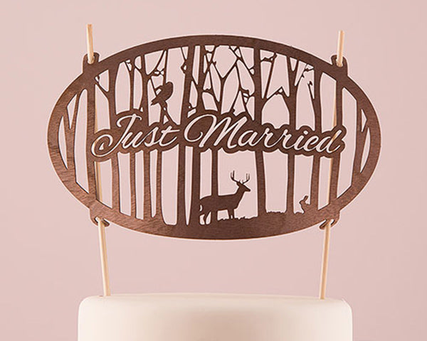 Unique Cake Toppers: Wood
