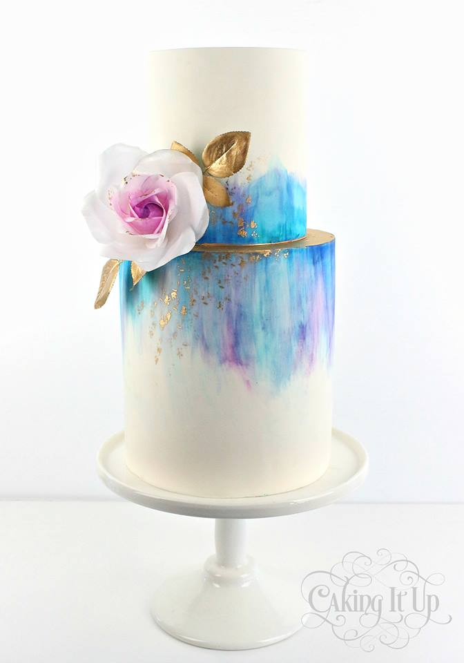 Painted Cake | 6 Unique and Dazzling Wedding Cakes | My Wedding Favors