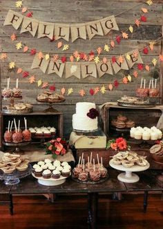 Autumn Wedding Reception Treats