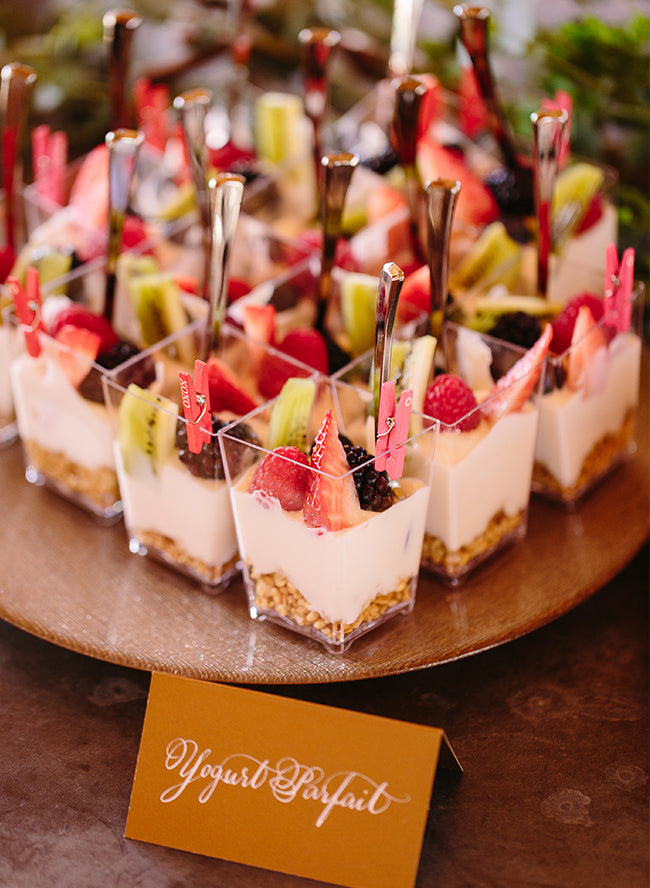 Yogurt Parfaits | Summer Bridal Shower Treats | My Wedding Favors
