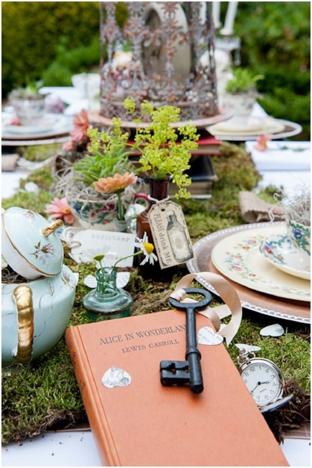Book-Themed Bridal Shower: Alice In Wonderland   Want That Wedding