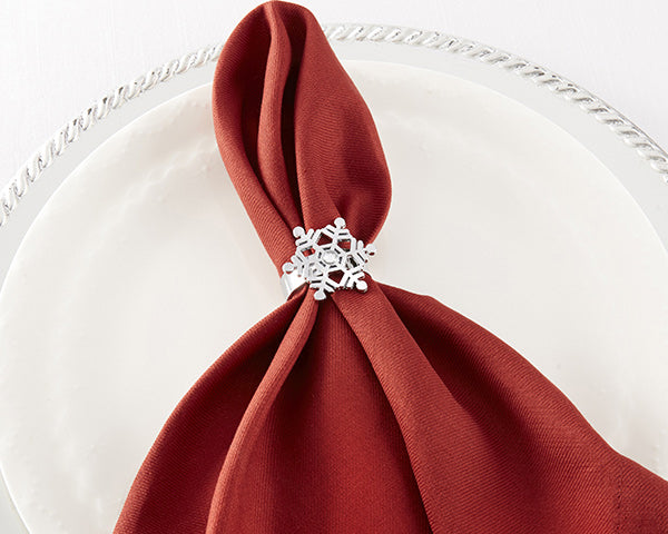 Holiday Engagement Party: Snowflake Napkin Holders