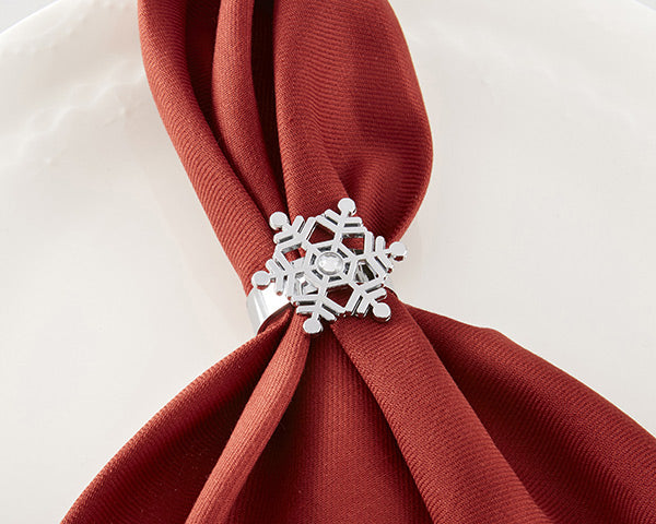 Snowflake Napkin Rings | 8 Ideas For Winter Wedding Decor | My Wedding Favors