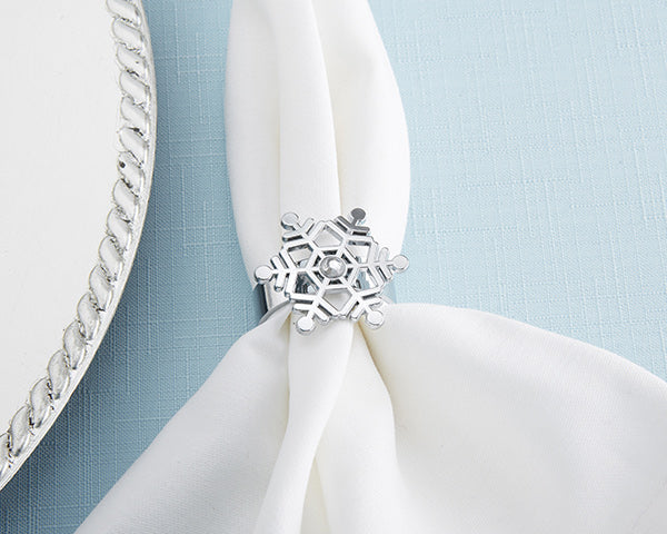 Snowflake Napkin Rings | 9 Holiday Gifts Any Bride and Groom Would Love | My Wedding Favors