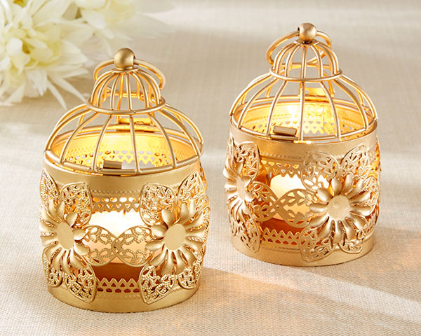 Gold Lantern Candle Holders | Everything You Need for a Champagne Brunch Bridal Shower | My Wedding Favors