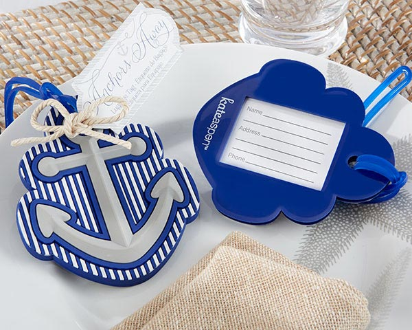 Nautical Wedding Favors: Anchor Luggage Tags