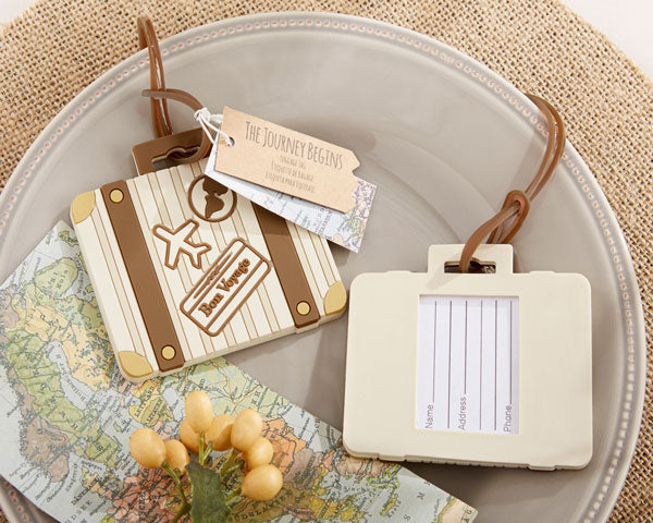 Suitcase Luggage Tags | 8 Favors for a Travel Themed Wedding  | My Wedding Favors