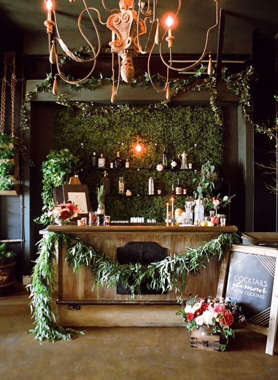 Holiday Engagement Party: Holly and Poinsettia