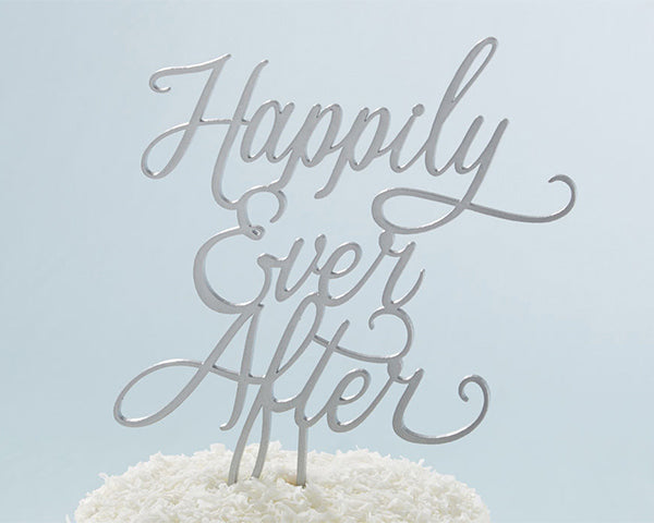 Happily Ever After Cake Topper | MyWeddingFavors.com